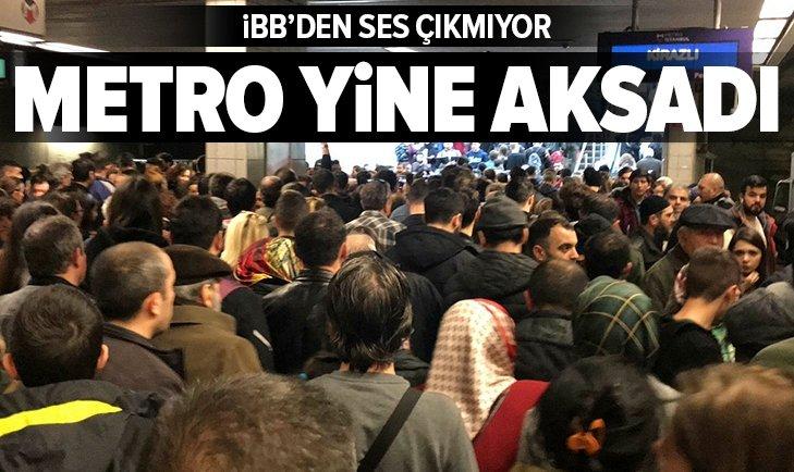 İSTANBUL'DA METRO SEFERLERİ AKSADI