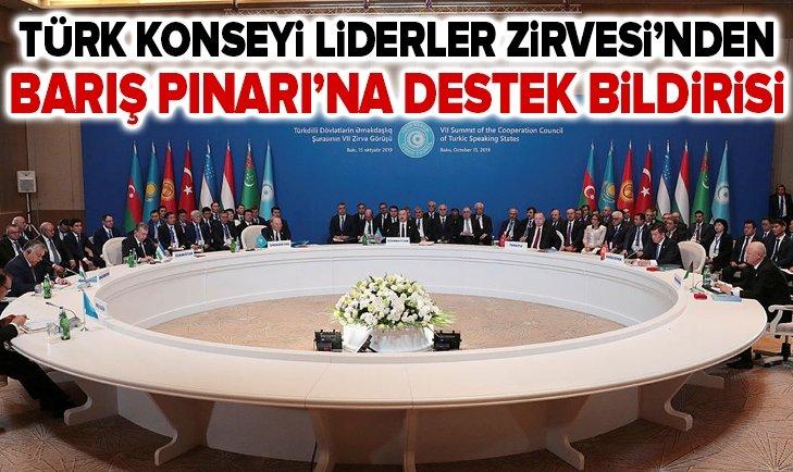 TÜRK KONSEYİ LİDERLER ZİRVESİ'NDEN BARIŞ PINARI HAREKATI'NA DESTEK BİLDİRİSİ