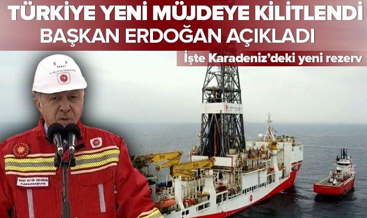 Başkan Erdoğan müjdeyi açıkladı! İşte Karadeniz'deki yeni rezerv