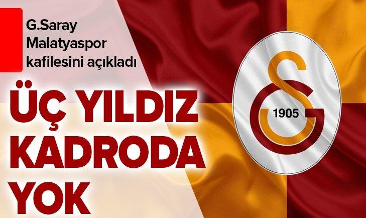 GALATASARAY'IN MALATYA KAFİLESİ BELLİ OLDU!