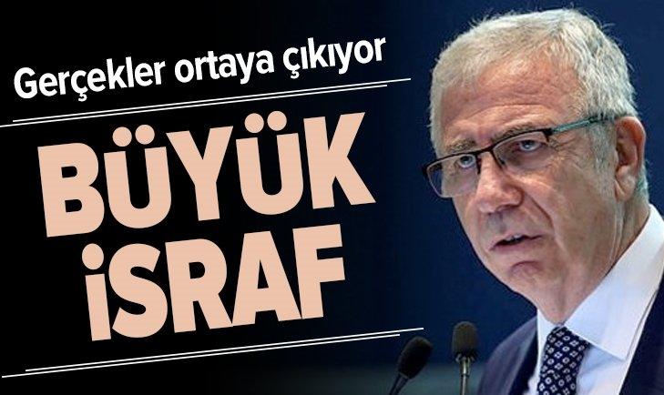 MANSUR YAVAŞ'TAN BÜYÜK İSRAF!