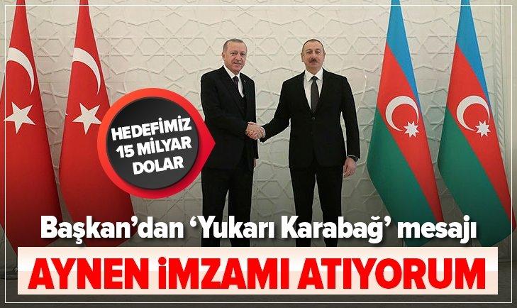 BAŞKAN ERDOĞAN'DAN AZERBAYCAN'DA ÖNEMLİ AÇIKLAMALAR