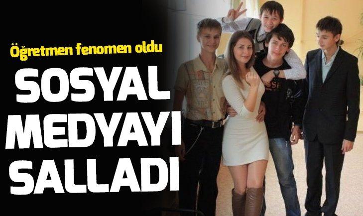 RUS ÖĞRETMEN GÜZELLİĞİYLE SOSYAL MEDYAYI SALLADI!