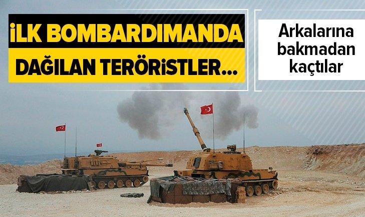 İlk bombardımanın ardından PYD'li teröristler bakın ne yaptı
