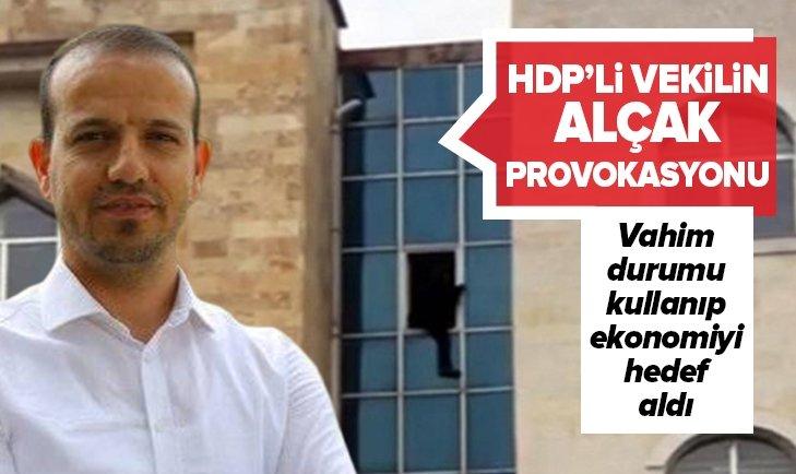 HDP'Lİ VEKİL ALÇAK İNTİHAR PROVOKASYONU!