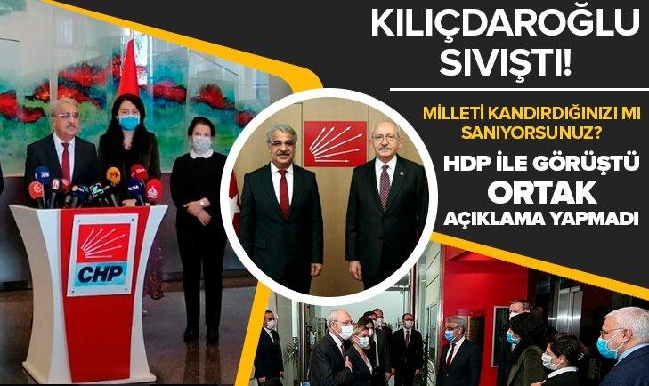 Kılıçdaroğlu sıvıştı! HDP ile görüştü ama...