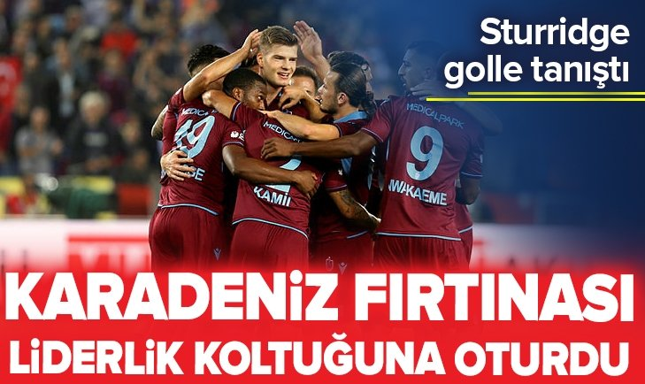 TRABZONSPOR KAZANDI LİDERLİK KOLTUĞUNA OTURDU!