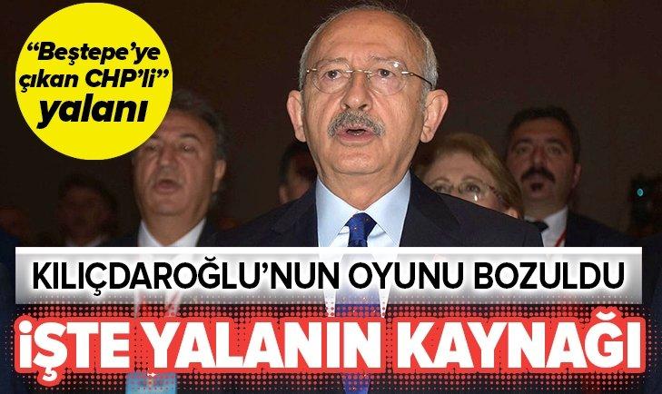 Beştepe'ye çıkan CHP'li yalanının kaynağı belli oldu!
