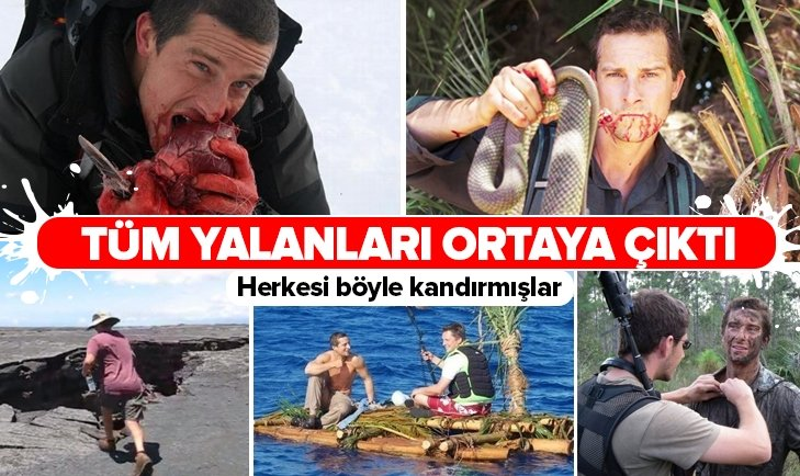 BEAR GRYLLS YALANLARIYLA REZİL OLDU