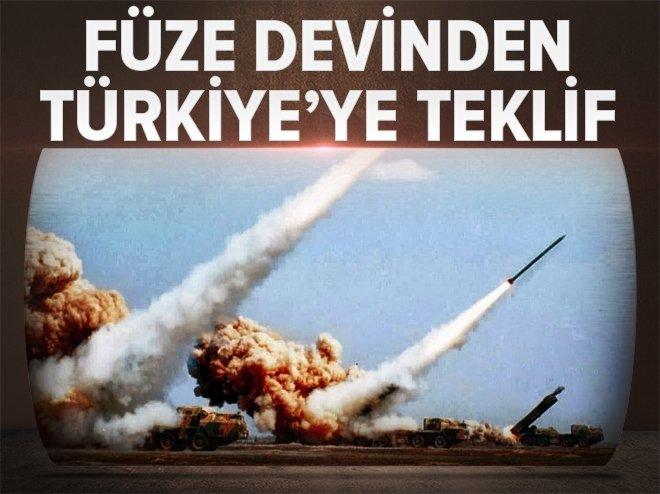 FÜZE DEVİNDEN TÜRKİYE'YE TEKLİF
