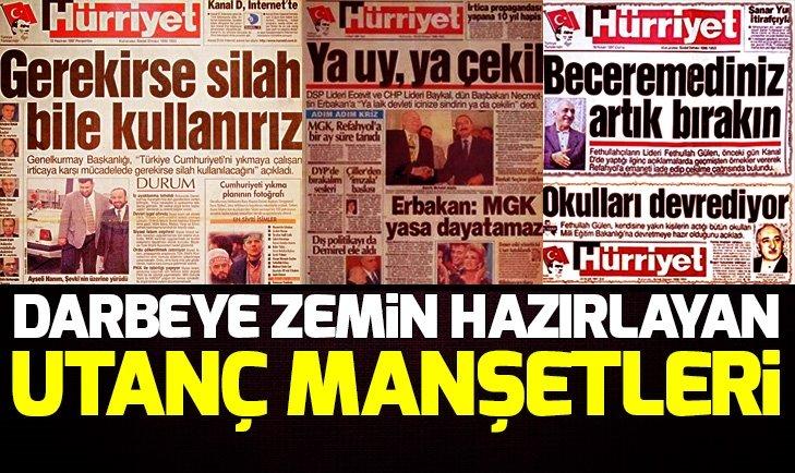 İŞTE 28 ŞUBAT'IN UTANÇ MANŞETLERİ!