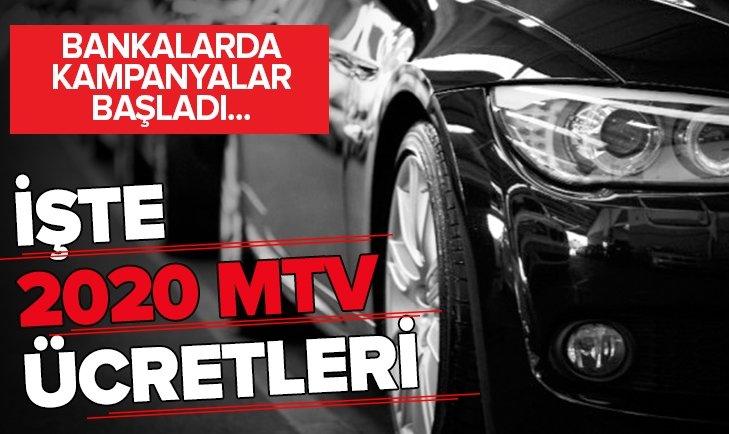 BANKALAR MTV KAMPANYALARINI BAŞLATTI! İŞTE 2020 MTV ÜCRETLERİ