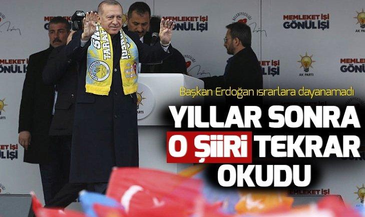 Başkan Erdoğan yıllar sonra Asker Duası şiirini Siirt'te okudu!