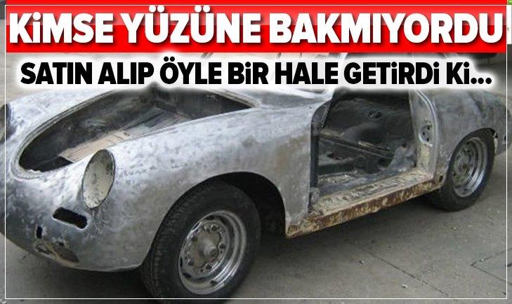 HURDA HALİNDEKİ PORSCHE'Yİ ÖYLE BİR HALE GETİRDİ Kİ...