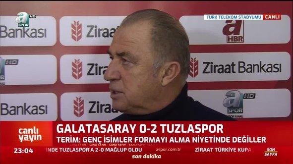 Fatih Terim'den maç sonu bomba açıklamalar!