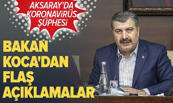 AKSARAY'DA 'KORONAVİRÜS' ŞÜPHESİ!