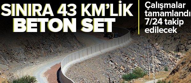 İran sınırı 43 kilometrelik beton duvarla örüldü