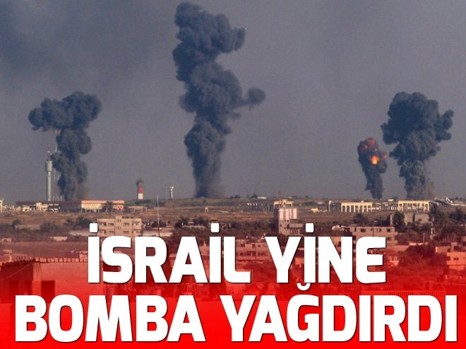 İsrail uçakları Gazze'de lunapark yakınını bombaladı