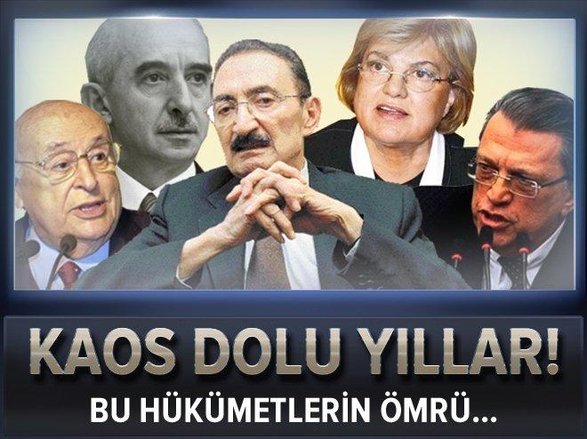 SİYASİ KAOSLAR HEP MEVCUT SİSTEM ÜZERİNDEN ÇIKTI!