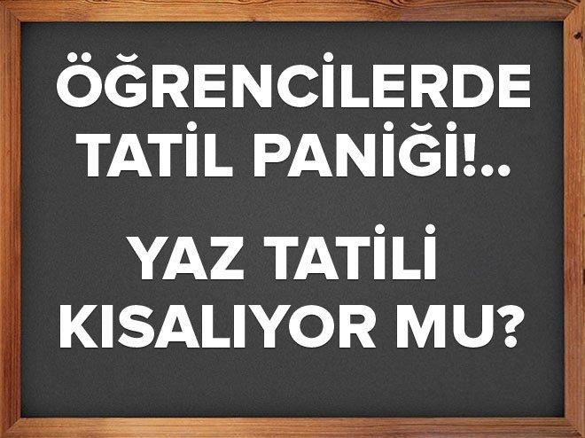 ÖĞRENCİLERDE TATİL PANİĞİ!