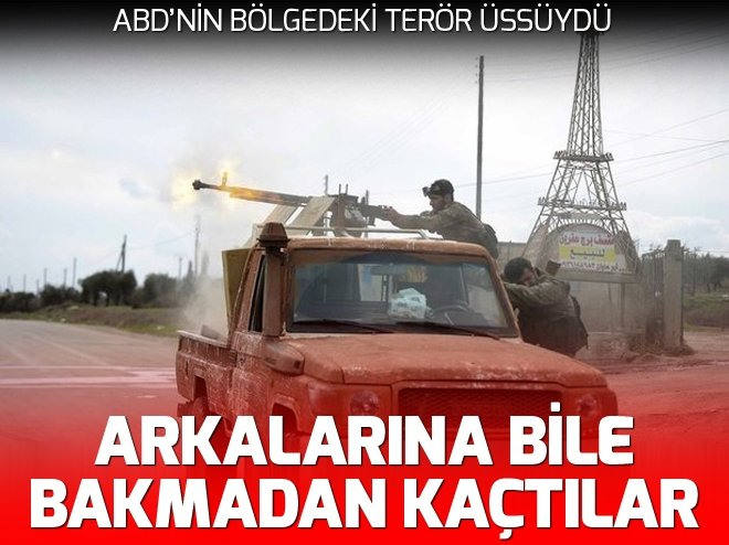 PKK/YPG'NİN SÖZDE ÖZEL KUVVETLERİ ARKALARINA BİLE BAKMADAN KAÇTI