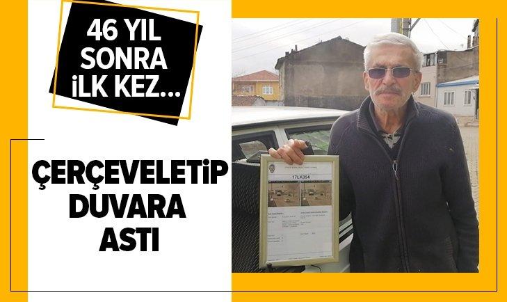 İLK TRAFİK CEZASINI 75 YAŞINDA YEDİ