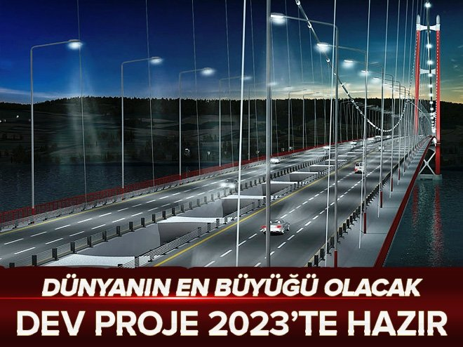 Dev proje 2023 yılında hizmete girecek