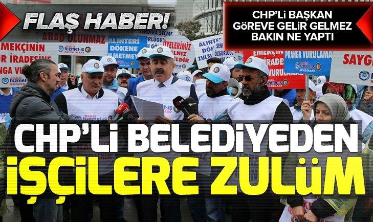 CHP'li Bolu Belediye Başkanı Tanju Özcan'dan işçi kıyımı