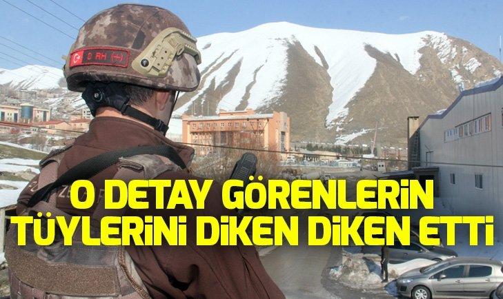 Hakkari'de karlar eridi Atatürk silüeti ortaya çıktı