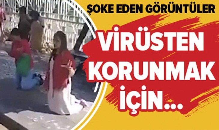 YOL KENARLARINDA KORONAVİRÜS DUASI