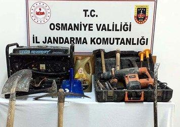 Osmaniye'de sit alanında kaçak kazı yapan 2 kişiye suçüstü