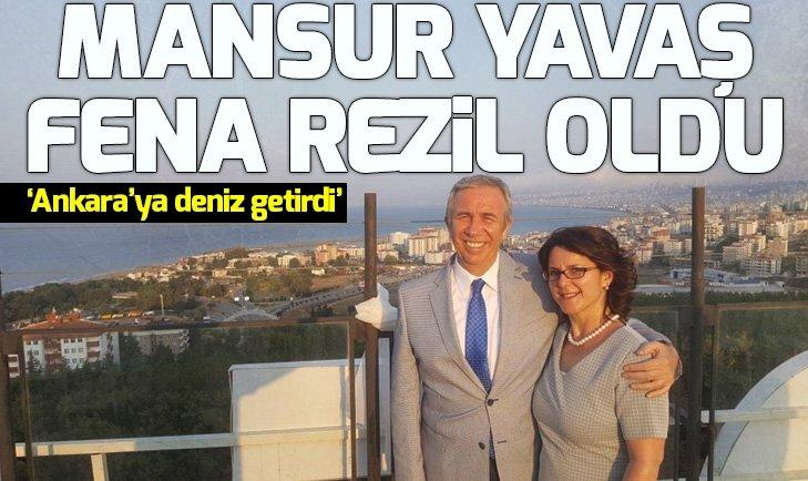 Sosyal medya bunu konuşuyor: Mansur Yavaş Ankara'ya deniz getirdi