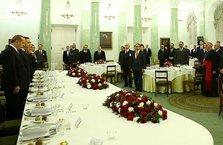 Cumhurbaşkanı Erdoğan onuruna verilen yemeğe katıldı