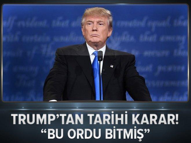 TRUMP'TAN ABD ORDUSU HAKKINDA 'TARİHİ' KARAR