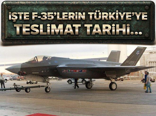F-35'lerin Türkiye'ye teslimat tarihi