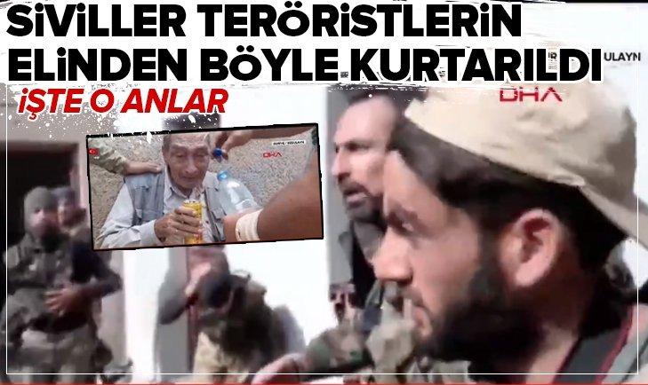 SİVİLLERİ YPG ZULMÜNDEN KURTARILMA ANLARI