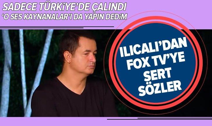 ACUN ILICALI'DAN FOX TV'YE SERT SÖZLER