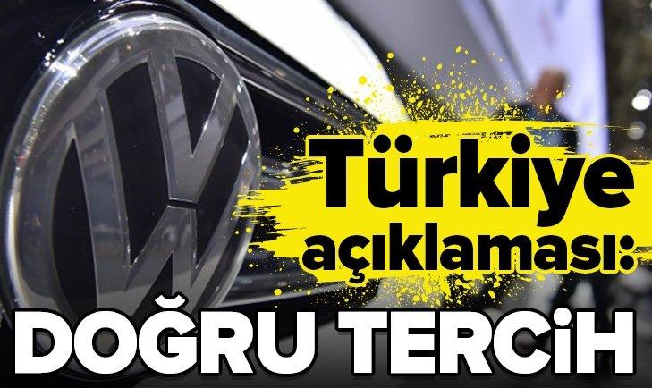 'Volkswagen' Türkiye açıklaması!