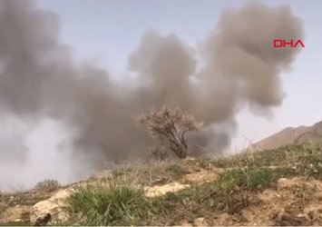 Afrin'de el yapımı patlayıcının imha edilme anı