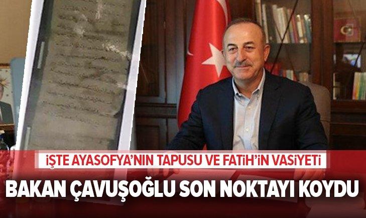 Dışişleri Bakanı Çavuşoğlu'ndan 'Ayasofya' tepkisi