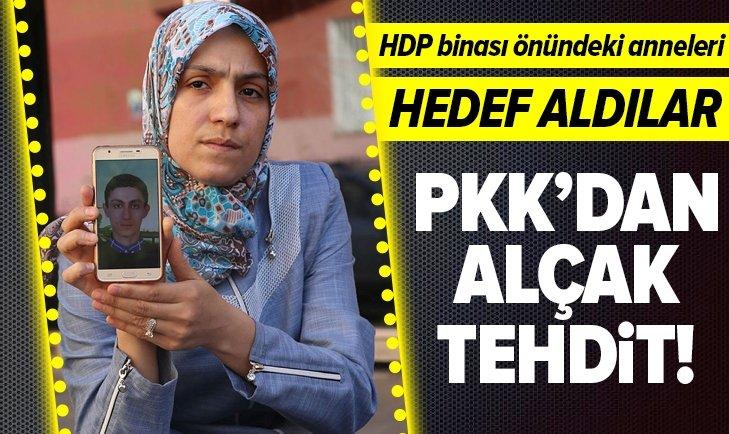 DİYARBAKIR HDP İL BİNASI ÖNÜNDE OTURMA EYLEMİ YAPAN ANNEYE PKK'DAN TEHDİT