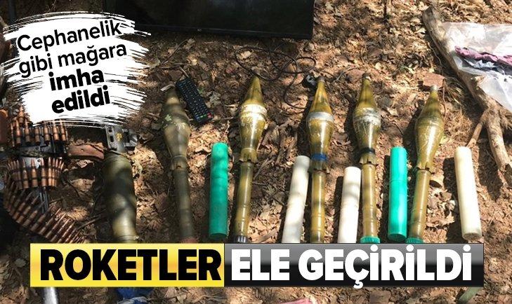 HAKURK'TA PKK'NIN CEPHANESİ İMHA EDİLDİ