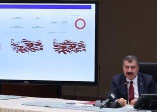 Bakan Koca son hafta en çok ve en az hasta olan şehirleri açıkladı