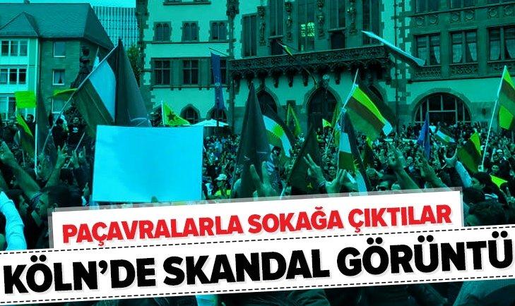 KÖLN'DE SKANDAL GÖRÜNTÜ!