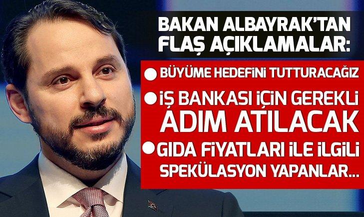 BAKAN ALBAYRAK'TAN 'İŞ BANKASI' AÇIKLAMASI