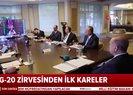 Son dakika haberi... Başkan Erdoğan, video konferansla G20 Liderler Zirvesi'ne katıldı! İşte ilk görüntüler |Video