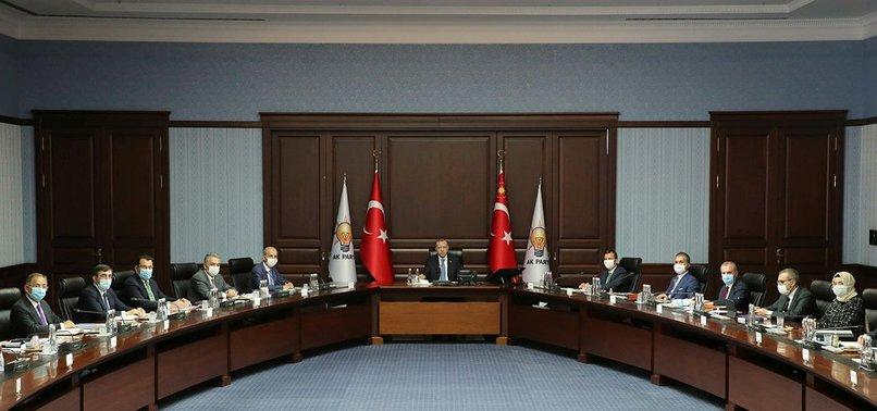 Son dakika: AK Parti MYK Başkan Erdoğan liderliğinde toplandı
