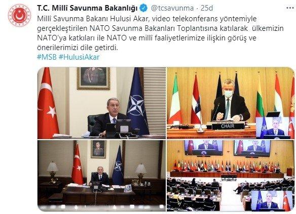 Hulusi Akar NATO Savunma Bakanları Toplantısı'na katıldı ile ilgili görsel sonucu
