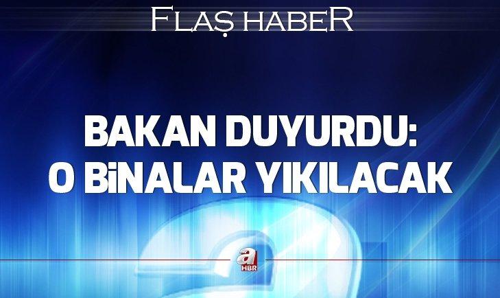 Bakan Murat Kurum: Kartal'da 8 bina yıkılacak