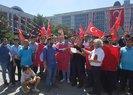 Ekrem İmamoğlunun Belturdan çıkardığı işçilerden İBB önünde basın açıklaması
